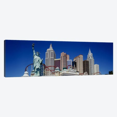 Low angle view of skyscrapers, New York New York, Las Vegas, Nevada, USA Canvas Print #PIM3528} by Panoramic Images Canvas Art Print
