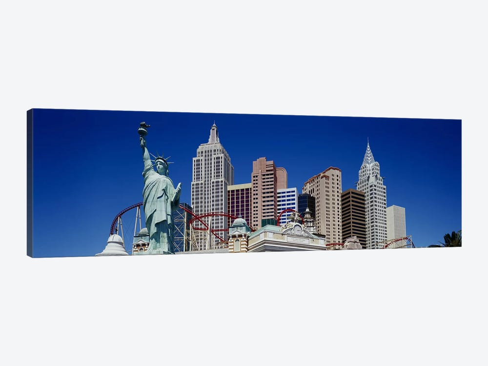 Low angle view of skyscrapers, New York New York, Las Vegas, Nevada, USA by Panoramic Images 1-piece Canvas Wall Art