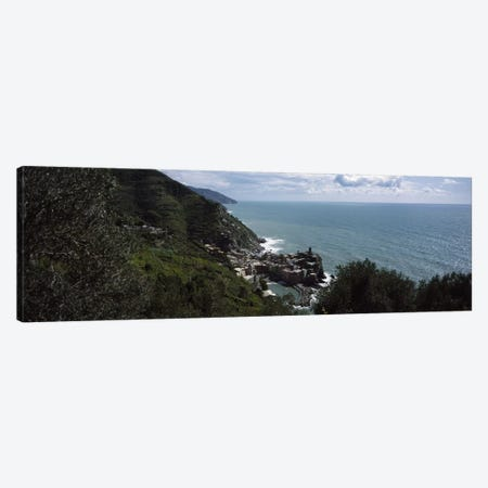 Cinque Terre Italian Riviera Vernazza Italy Canvas Print #PIM3536} by Panoramic Images Art Print