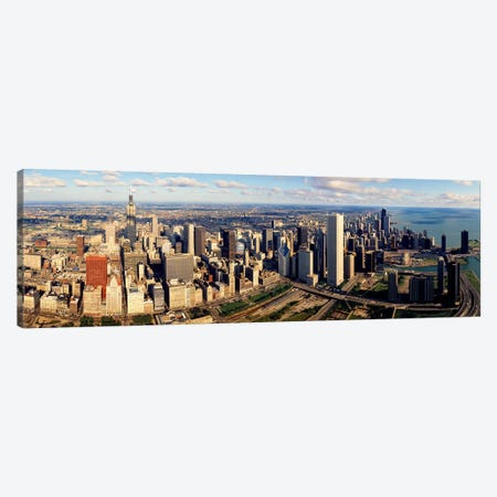 Aerial Chicago IL Canvas Print #PIM3537} by Panoramic Images Canvas Print