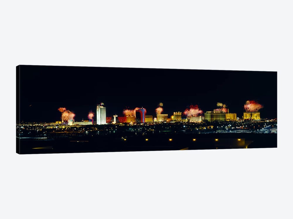 Buildings lit up at night, Las Vegas, Nevada, USA #3 by Panoramic Images 1-piece Canvas Art Print