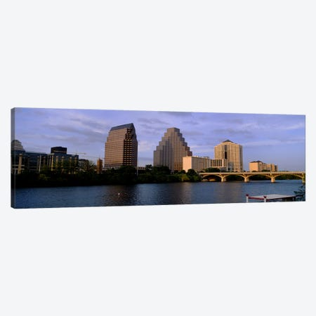 Bridge over a river, Congress Avenue Bridge, Austin, Texas, USA Canvas Print #PIM3539} by Panoramic Images Canvas Art