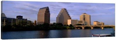 Bridge over a river, Congress Avenue Bridge, Austin, Texas, USA Canvas Art Print