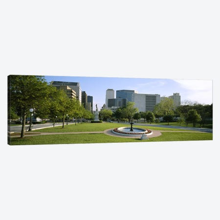 Fountain In A Park, Austin, Texas, USA Canvas Print #PIM3541} by Panoramic Images Canvas Print