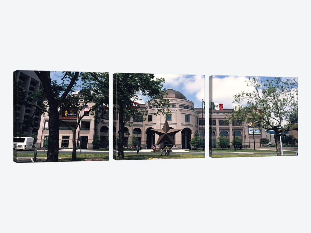Facade of a building, Texas State History Museum, Austin, Texas, USA by Panoramic Images 3-piece Canvas Artwork