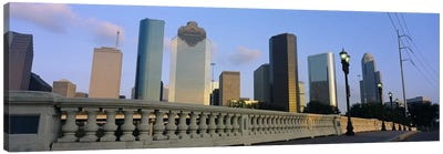 Low Angle View Of Buildings, Houston, Texas, USA Canvas Art Print