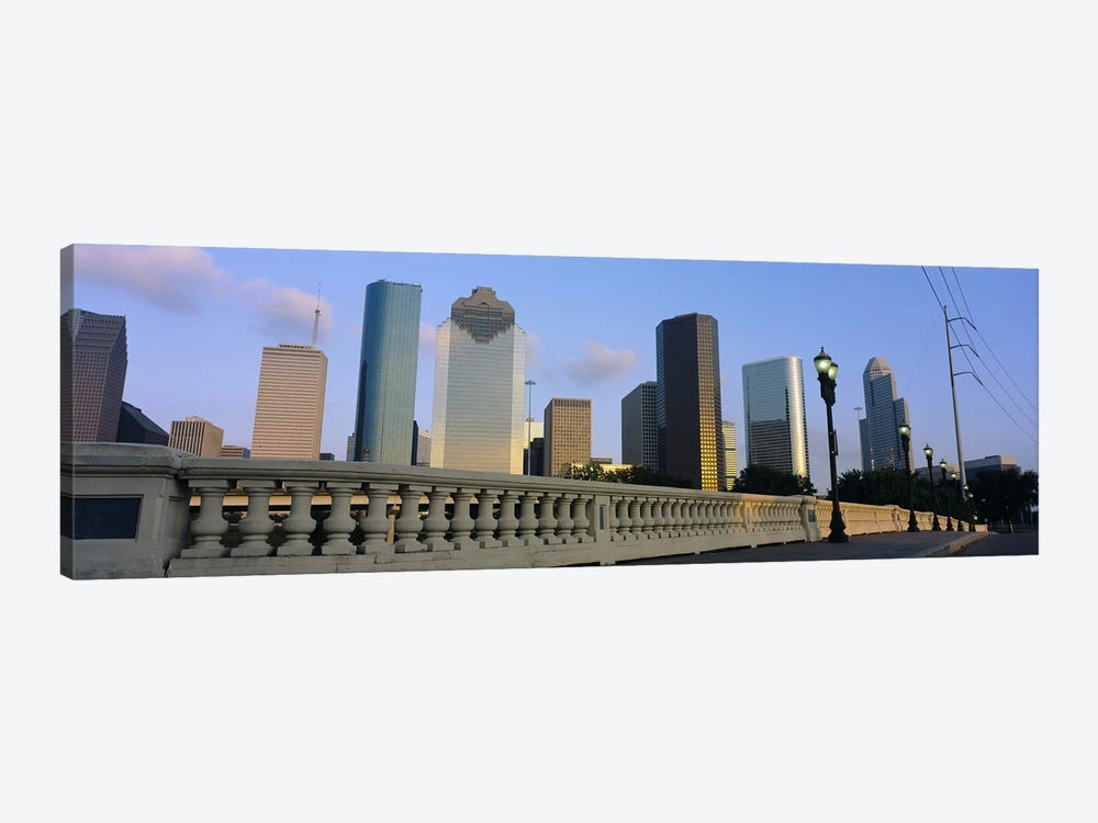 Low Angle View Of Buildings, Houston, Texas, USA by Panoramic Images 1-piece Canvas Artwork