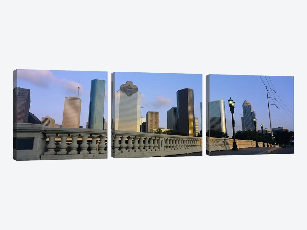 Low Angle View Of Buildings, Houston, Texas, USA by Panoramic Images 3-piece Canvas Art