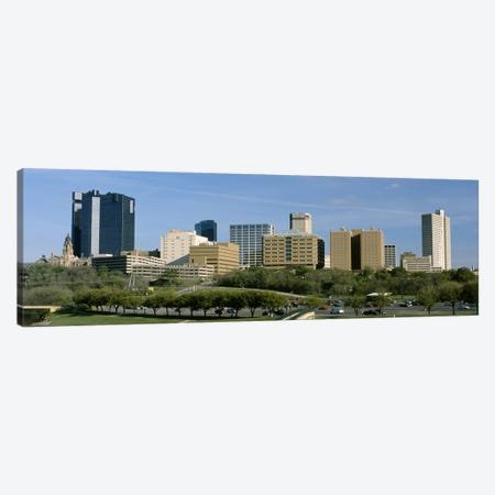 Buildings in a city, Fort Worth, Texas, USA Canvas Print #PIM3545} by Panoramic Images Canvas Art