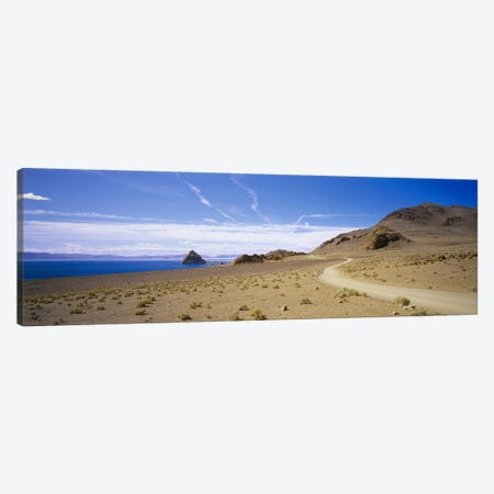 Distant View Of The Pyramid From Scenic Byway, Pyramid Lake Indian Reservation, Nevada, USA Canvas Print #PIM3549} by Panoramic Images Canvas Art Print