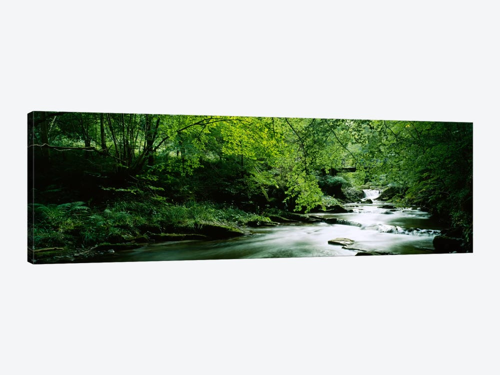 A Flowing River, Aberfeldy, Perthshire, County Of Perth, Scotland, United Kingdom by Panoramic Images 1-piece Canvas Print