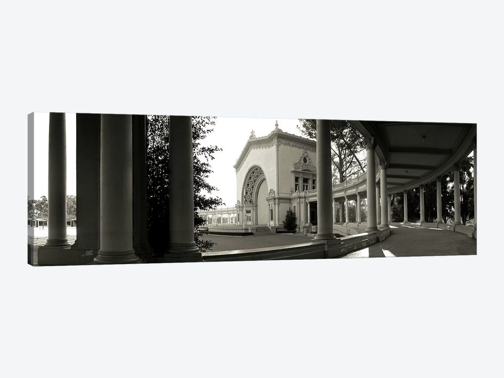 Pavilion in a park, Balboa Park, San Diego, California, USA by Panoramic Images 1-piece Canvas Art