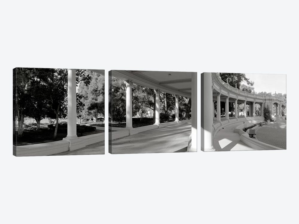 Pavilion in a park, Balboa Park, San Diego, California, USA #2 by Panoramic Images 3-piece Canvas Art Print