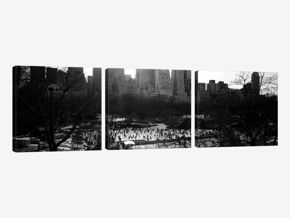 Wollman Rink, Central Park, Manhattan, New York City, New York, USA by Panoramic Images 3-piece Canvas Wall Art