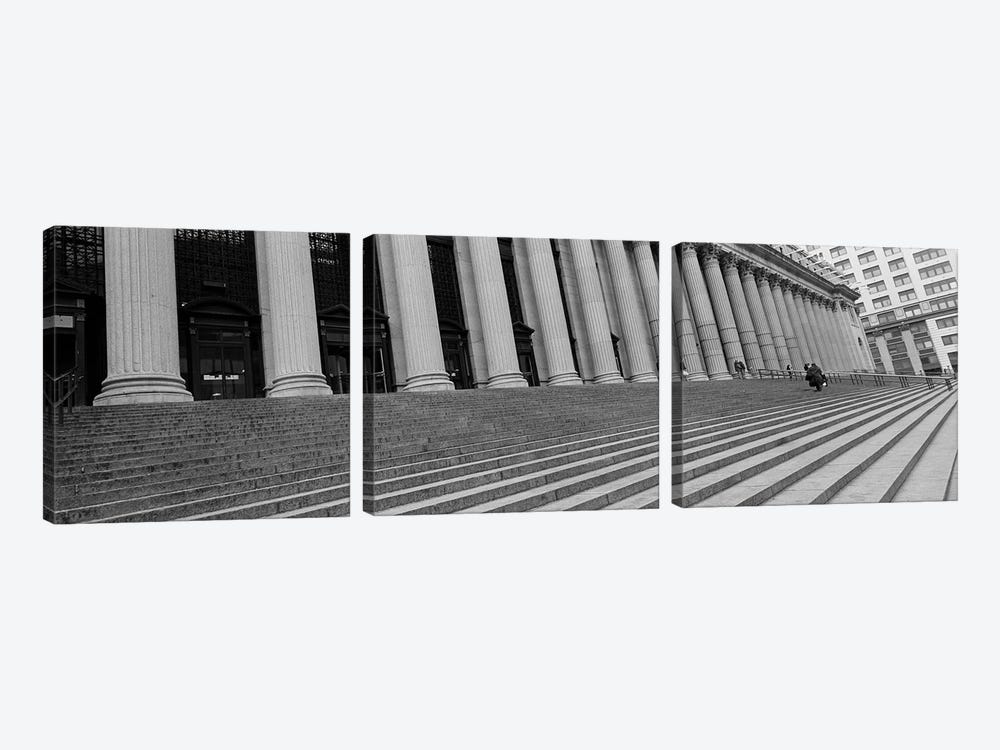 Courthouse StepsNYC, New York City, New York State, USA by Panoramic Images 3-piece Canvas Artwork