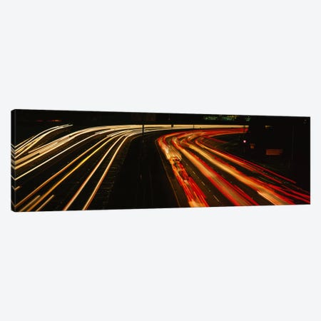 High angle view of traffic on a road at night, Oakland, California, USA Canvas Print #PIM3561} by Panoramic Images Canvas Art Print