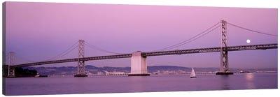 Suspension bridge over a bay, Bay Bridge, San Francisco, California, USA Canvas Print #PIM3562
