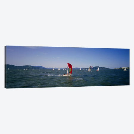 Sailboats in the water, San Francisco Bay, California, USA Canvas Print #PIM3564} by Panoramic Images Canvas Art
