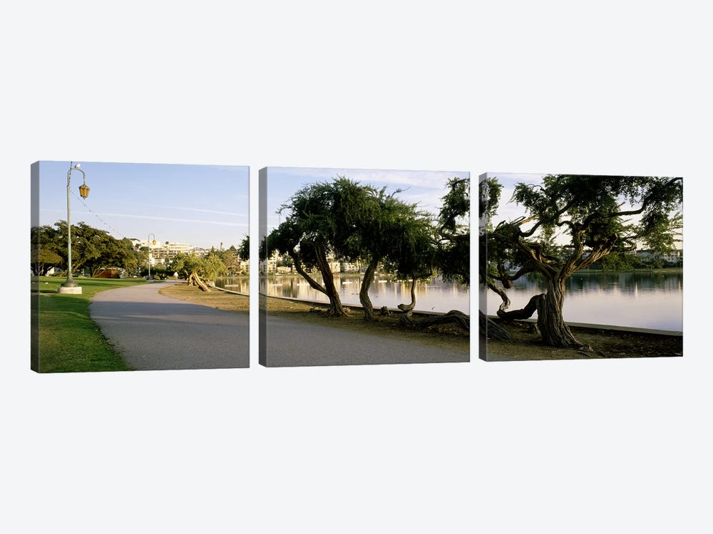 USA, California, Oakland, Path by Panoramic Images 3-piece Canvas Print
