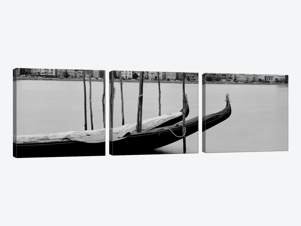 Gondola in a lake, Oakland, California, USA by Panoramic Images 3-piece Canvas Wall Art