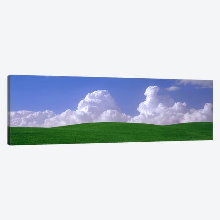 Clouds Over A Green Pasture, Palouse, Washington, USA Canvas Print #PIM3567} by Panoramic Images Canvas Art