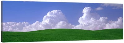Clouds Over A Green Pasture, Palouse, Washington, USA Canvas Art Print