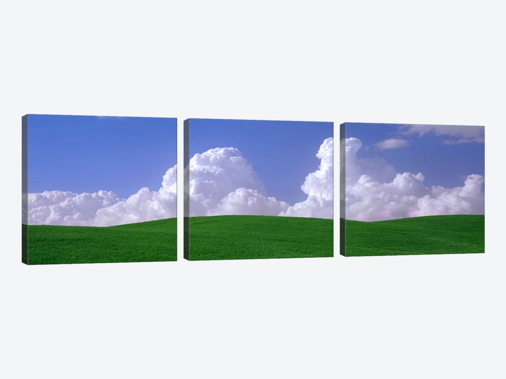 Clouds Over A Green Pasture, Palouse, Washington, USA by Panoramic Images 3-piece Art Print