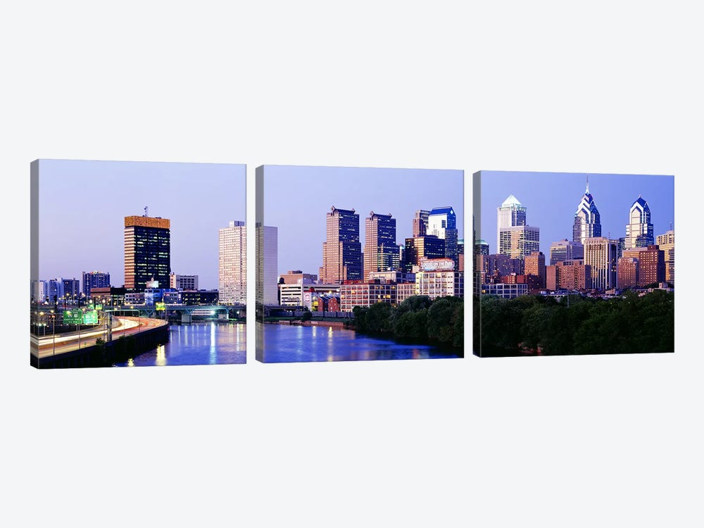 Philadelphia, Pennsylvania, USA #5 by Panoramic Images 3-piece Canvas Art