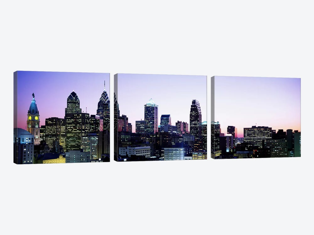 PhiladelphiaPennsylvania, USA by Panoramic Images 3-piece Canvas Art Print