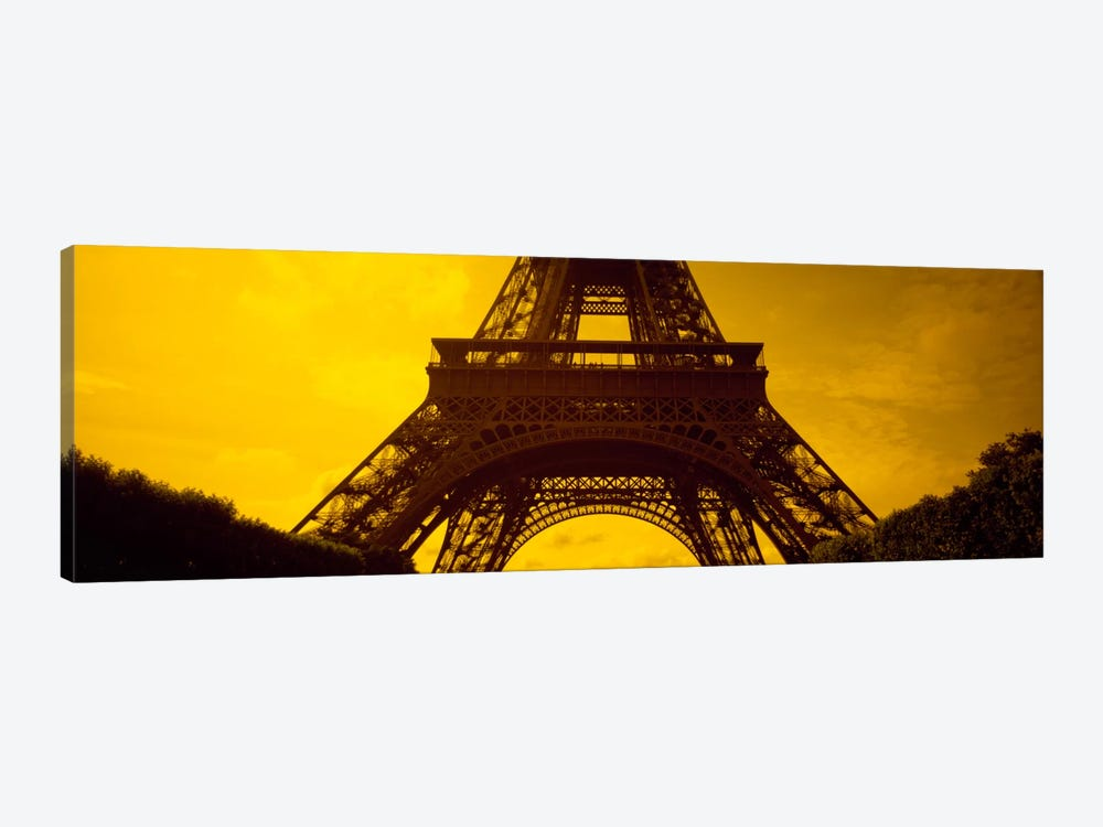 Sauvestre's Arches & Second Level, Eiffel Tower, Paris, Ile-De-France, France 1-piece Canvas Art Print