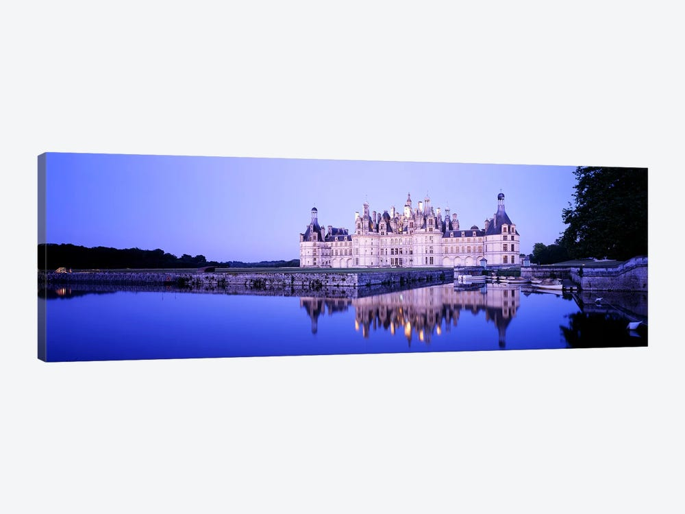 Chateau de Chambord At Dusk, Loire Valley, France by Panoramic Images 1-piece Canvas Wall Art