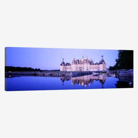 Chateau de Chambord At Dusk, Loire Valley, France 3-Piece Canvas #PIM3575} by Panoramic Images Art Print