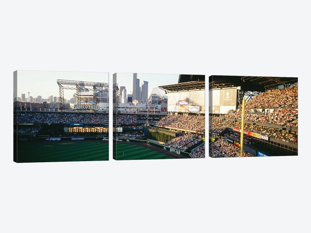 SAFECO Field Seattle WA by Panoramic Images 3-piece Canvas Print