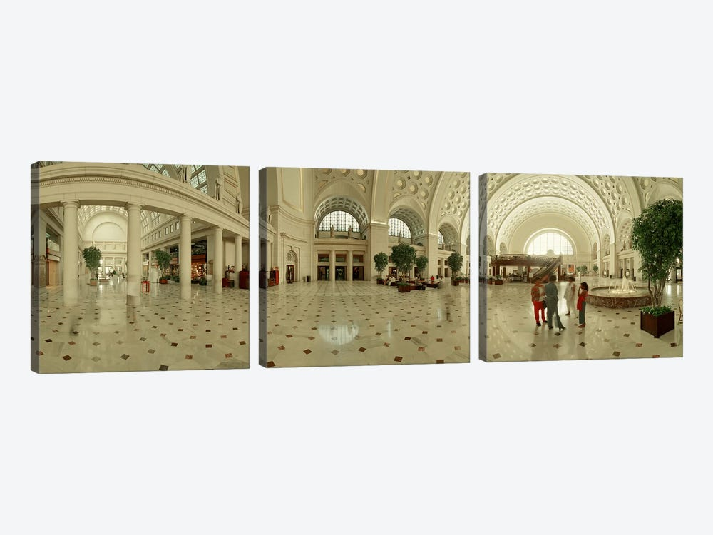 Interior Union Station Washington DC by Panoramic Images 3-piece Art Print