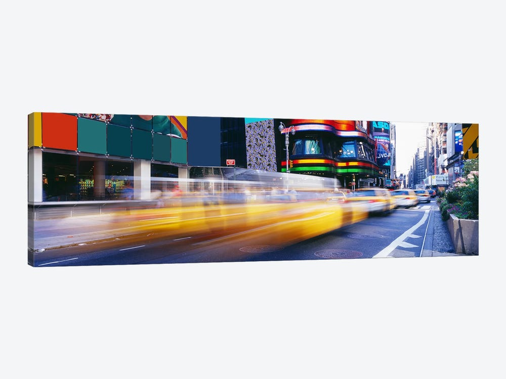 Blurred Motion View Of Traffic, Times Square, New York City, New York, USA by Panoramic Images 1-piece Canvas Art Print