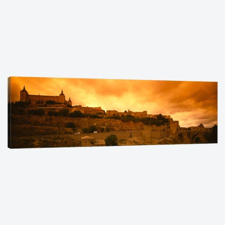 Alcazar de Toledo At Dusk, Toledo, Spain Canvas Print #PIM358} by Panoramic Images Canvas Wall Art