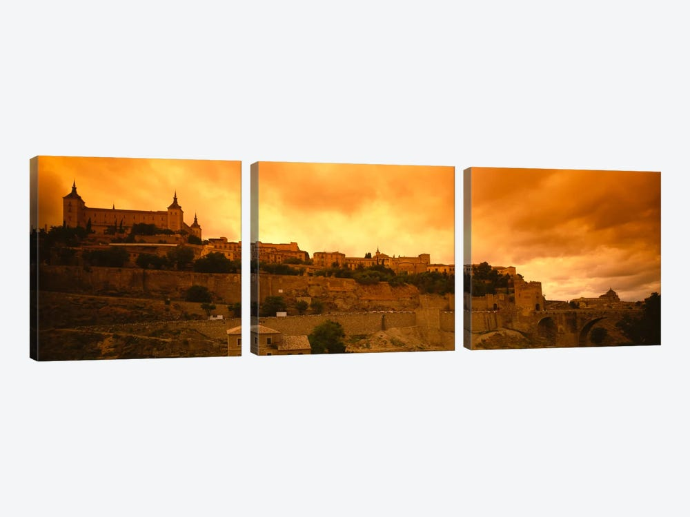 Alcazar de Toledo At Dusk, Toledo, Spain by Panoramic Images 3-piece Art Print