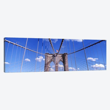 Brooklyn BridgeNYC, New York City, New York State, USA Canvas Print #PIM3590} by Panoramic Images Canvas Artwork