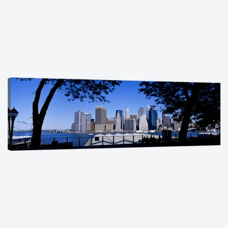 Skyscrapers on the waterfront, Manhattan, New York City, New York State, USA Canvas Print #PIM3591} by Panoramic Images Canvas Wall Art