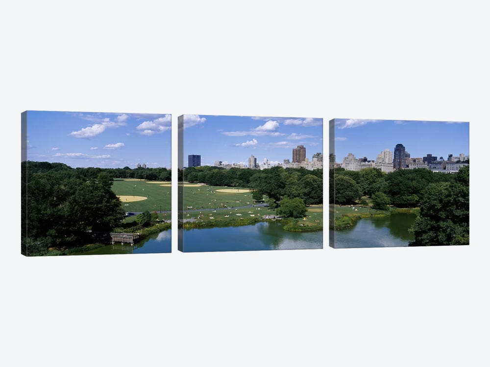 Great LawnCentral Park, Manhattan, NYC, New York City, New York State, USA by Panoramic Images 3-piece Canvas Art Print
