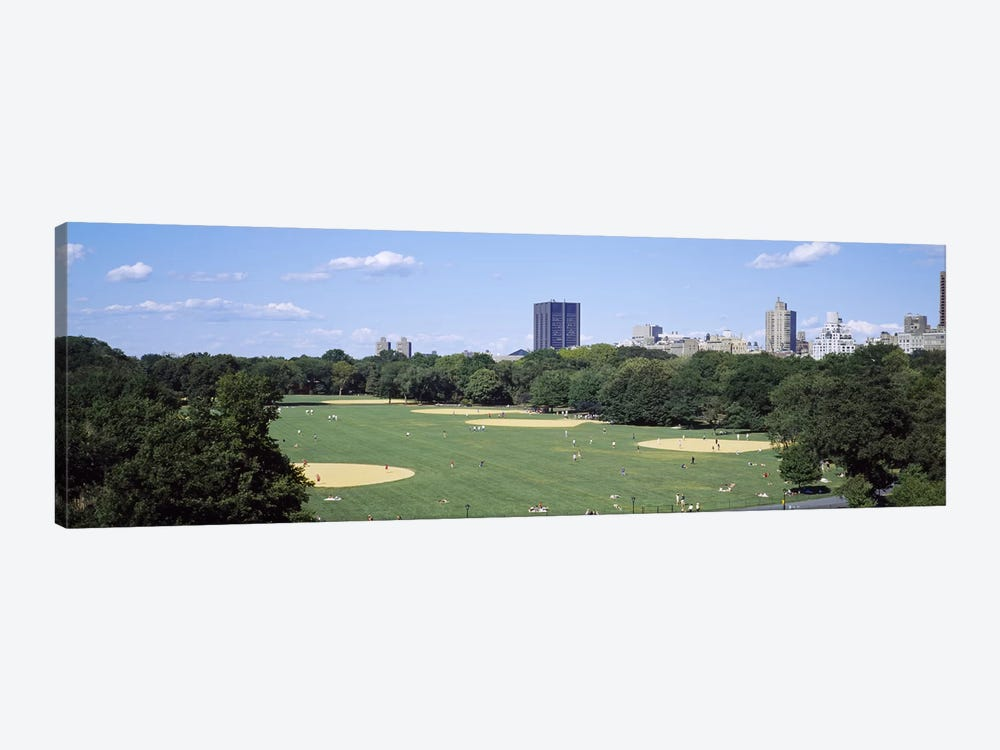 High angle view of the Great LawnCentral Park, Manhattan, New York City, New York State, USA by Panoramic Images 1-piece Canvas Artwork