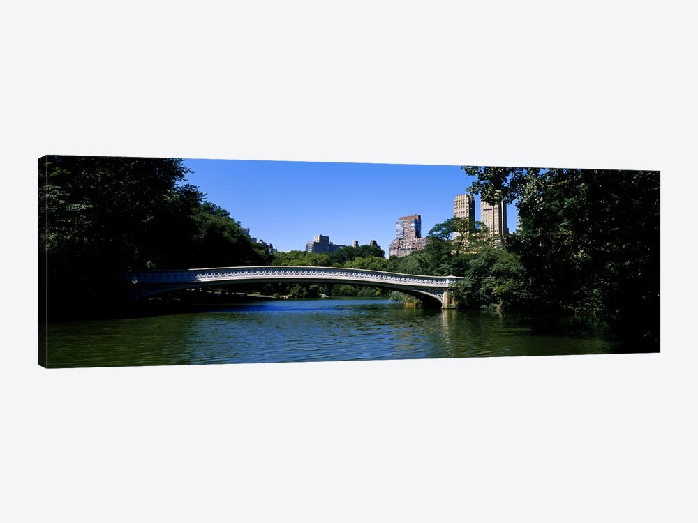 Bridge Over A LakeBow Bridge, Manhattan, NYC, New York City, New York State, USA by Panoramic Images 1-piece Canvas Art Print