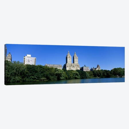 Buildings on the bank of a lakeManhattan, New York City, New York State, USA Canvas Print #PIM3595} by Panoramic Images Art Print