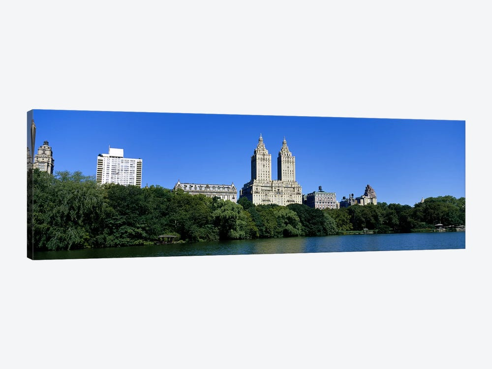 Buildings on the bank of a lakeManhattan, New York City, New York State, USA by Panoramic Images 1-piece Canvas Art