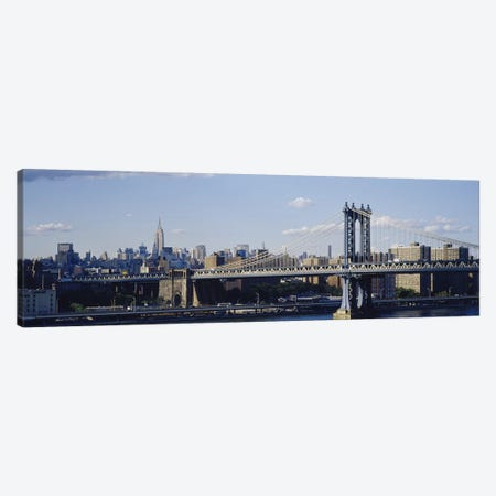 Bridge over a riverManhattan Bridge, Manhattan, New York City, New York State, USA Canvas Print #PIM3596} by Panoramic Images Canvas Art Print