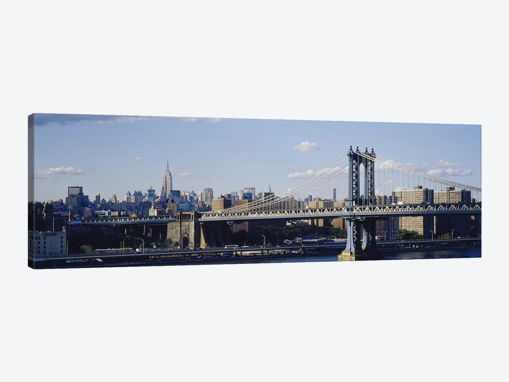 Bridge over a riverManhattan Bridge, Manhattan, New York City, New York State, USA by Panoramic Images 1-piece Canvas Art Print