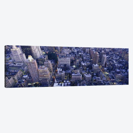 Aerial View of Buildings In A CityManhattan, NYC, New York City, New York State, USA Canvas Print #PIM3597} by Panoramic Images Art Print