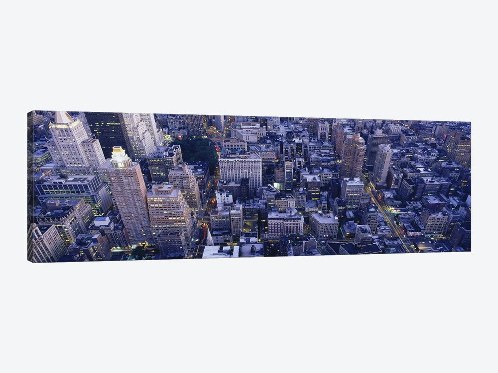 Aerial View of Buildings In A CityManhattan, NYC, New York City, New York State, USA by Panoramic Images 1-piece Canvas Artwork
