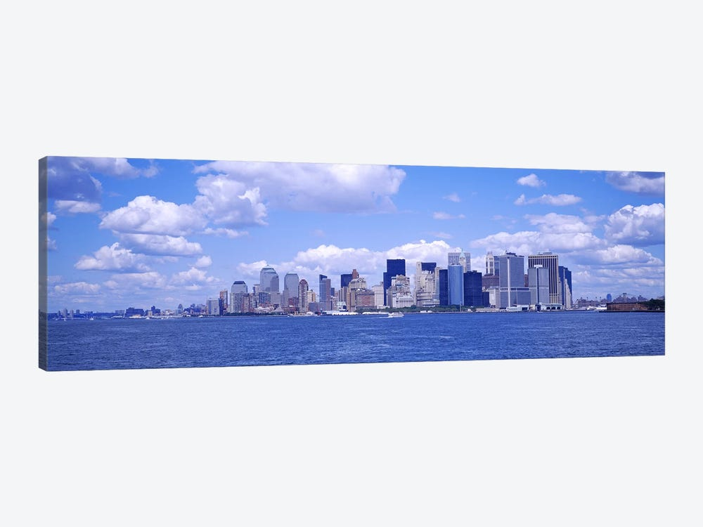 Skyscrapers on the waterfront, Manhattan, New York City, New York State, USA by Panoramic Images 1-piece Canvas Wall Art