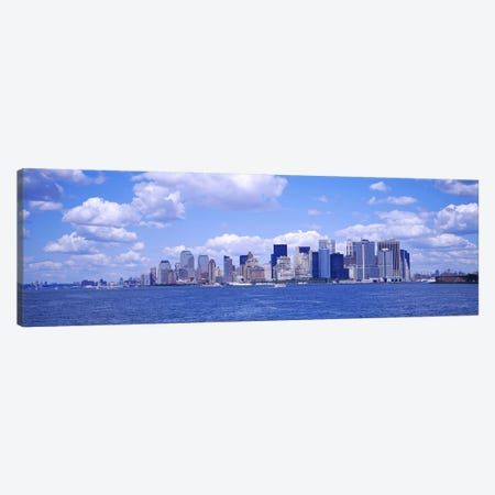 Skyscrapers on the waterfront, Manhattan, New York City, New York State, USA Canvas Print #PIM3599} by Panoramic Images Canvas Art